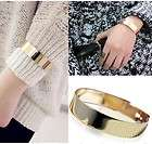 HOT Fashion Gold / Silver Color Mirrors Metal Armor Bracelet Hand Cuff