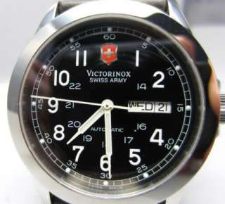 New Victorinox Swiss Army Infantry Automatic Mechanical Black Dial