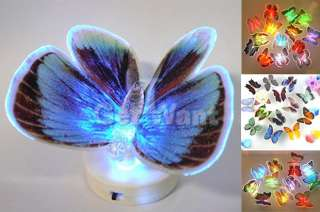 LED Fiber Vivid Butterfly Light Changing Color Lamp For Wedding Party