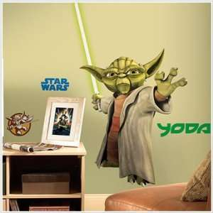 Star Wars Yoda Peel & Stick Giant Wall Decal Toys & Games