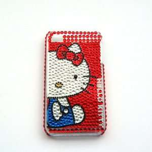 red Rhinestone Bling Crystal back cover case for Iphone 4 4G (NO010