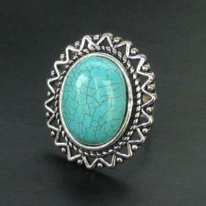 NEW IN TIBET STYLE TIBETAN SILVER TURQUOISE RING