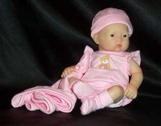 NIB Berenguer 2008 Mini La Newborn Asian Girl Doll 9.5