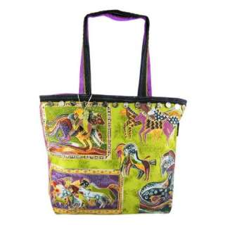 Laurel Burch Mythical Horses Large Tote Bag Shoulder Clothing