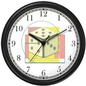 Dice or Craps Gambling or Casino Theme Wall Clock by