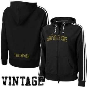 Ladies Black College Town Full Zip Hoody Sweatshirt
