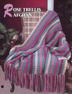 Crochet Pattern Rose Trellis Afghan : Pineapple Lace Afghan Annies Crochet Pattern