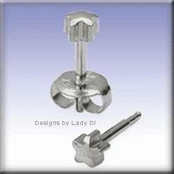Silver Star Studs Ear Piercing Earrings Stud Body
