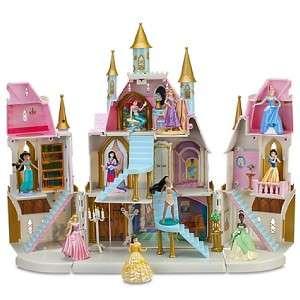 DISNEY PRINCESS MAGICAL CASTLE PLAY SET RAPUNZEL CINDERELLA ALL 10 NEW