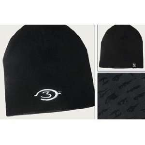 Halo 3 Reversible Logo Weapons Black/Gray Beanie Cap Hat