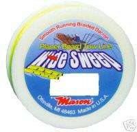 PLANER BOARD TOW LINE, BRAIDED CHARTREUSE 135lb./150ft