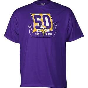 Minnesota Vikings 50th Anniversary Emblem T shirt Sports