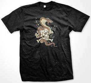 Skull And Snake  Traditional Tattoo Art Mens T shirt
