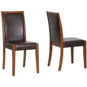 Baxton Studio Lita Wood and Leather Modern Dining Chair