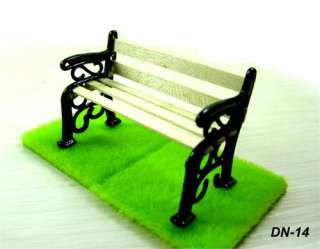 12 Dollhouse Miniature Park Bench Wood Chairs