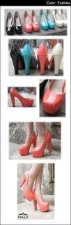 Fashion Women Shoes Platforms Ups High Chunky Heels Pumps Red Black