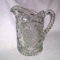 EAPG Krys Tol IVERNA Patterned Glass Water Pitcher