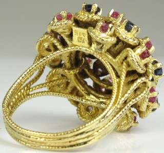 End Victorian Multi Stone 18K Yellow Gold Ring for your bidding today