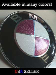 BMW Glitter Emblem Overlay Sticker Decal   Sparkle Crystal Pink Blue