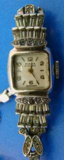 Swiss Pesag Tirza Deco 17 Jewel Watch+Band Square Face