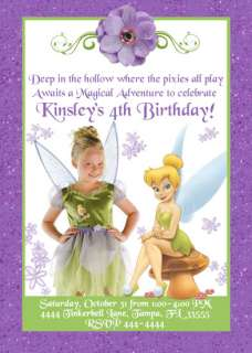 TINKERBELL CUSTOM BIRTHDAY INVITATIONS