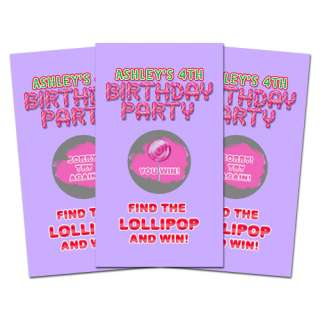 10 CANDYLAND Birthday Party Favor SCRATCH OFF GAMES