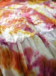 Hippie halter dress, TIE DYED / CROCHETED by hand *S M*