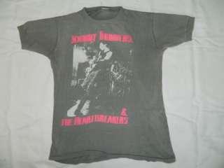 ORIGINAL JOHNNY THUNDERS 1984 CONCERT VINTAGE T SHIRT TOUR THE NEW