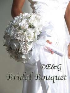 GORGEOUS Love BRIDE & GROOM Wedding Bridal Bouquet Bouquets Bridal