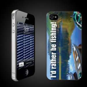 iPhone Case Designs   Id Rather Be Fishing CLEAR Protective iPhone