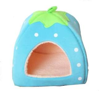 blue sponge strewberry pet/cat/dog house size MEDIUM cute kennel