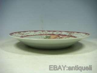 Rave chinese gilded rose medallion porcelain plate
