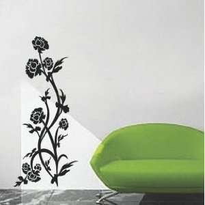 Growing Flowers (Black)   Loft 520 Home Decor Vinyl Mural Art Wall