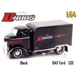 Jada Dub City D Rods Black 1947 Ford Coe Truck 1:64 Scale