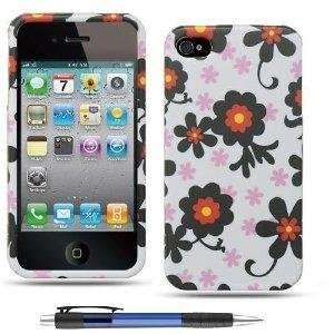 Black Daisy Flower Design Protector Hard Case Cover for