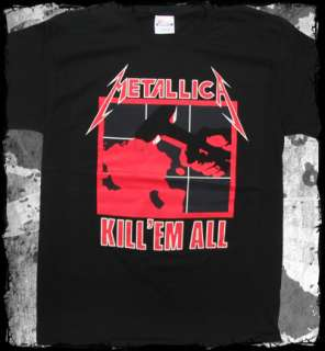 Metallica kill em all official t shirt   heavy metal
