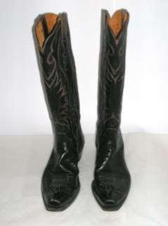 HYER Mens Tall Black Leather Cowboy Boots, Size 12 EUC. Olathe, Kansas