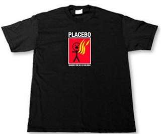 PLACEBO   FIRE KILLS   Black T shirt Clothing