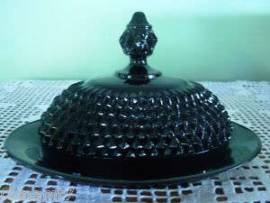 Black Diamond Point Butter Dish AKA Cameo BlackBy Tiara