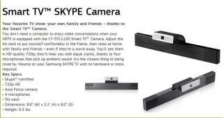 Latest SAMSUNG Smart TV SKYPE Web Camera CY STC1100 *