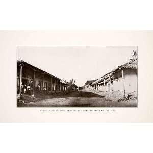 1926 Print Street Scene David Lombardi Hotel Panama
