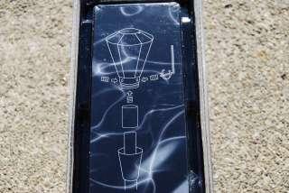 Crystal Blue Diamond Shift shifter Gear Knob easy install see inside