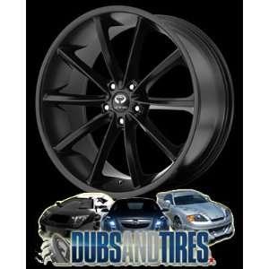 20 Inch 20x8.5 LORENZO wheels WL32 Satin Black wheels rims