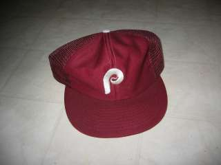 Stock Vintage Philadelphia Phillies Baseball Cap / Hat with Tags 1970