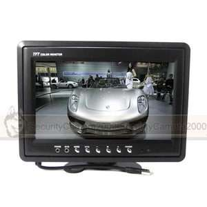 TFT LCD Color Camera Video Monitor 2 CH Video Input
