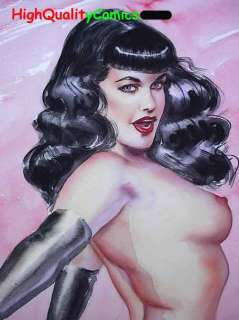 Original, BETTIE BETTY PAGE, Olivia De Berardinis, 1990