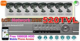 HIGH LINE CCD Camera Security DVR system 520TVL H.264