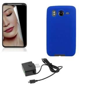 HTC INSPIRE 4G BLUE SILICONE CASE, TRAVEL HOME WALL