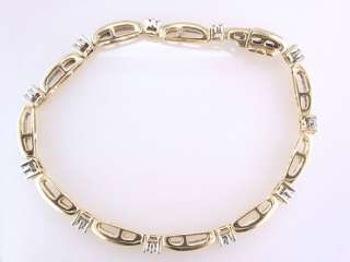 Diamond 4.00ct 14K Yellow Gold Ladies Tennis Bracelet Jewelry