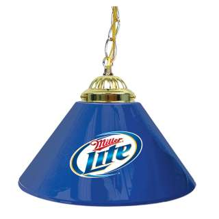 Miller Lite Beer 1 Shade Lamp Billiard Pool Bar Light 844296044580